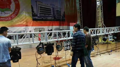 艾比声校园广播系统在梅州水寨中学的施工现场